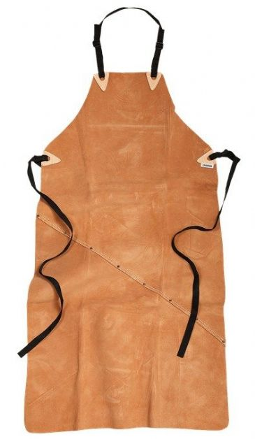 Fristads Leather Long Apron 9331 LTHR (Brown)